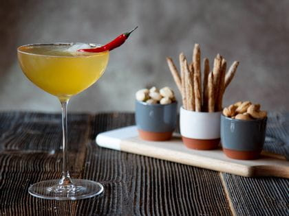 Beer cocktail with Tequila and chilli