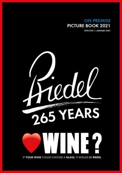 Cover of the RIEDEL catalogue on premise