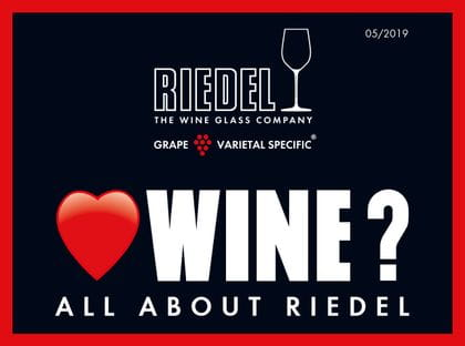 Cover of the all about RIEDEL brochure