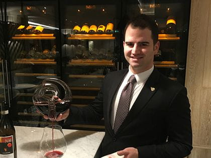 RIEDEL's sommelier of the month for February 2017 is Vittorio Gentile