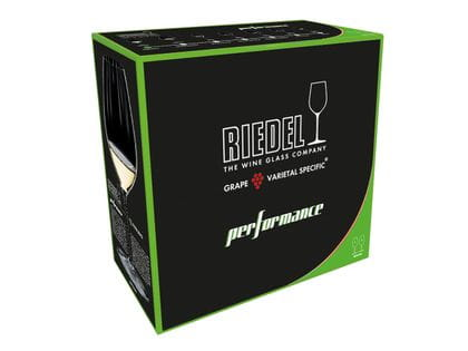 A Riedel Performance packaging box on a white background