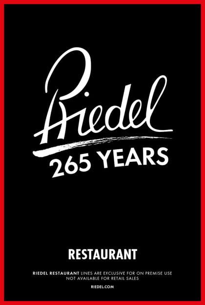 Cover of the RIEDEL Restaurant brochure