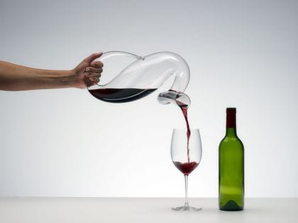 Riedel Mamba Decanter decanting red wine