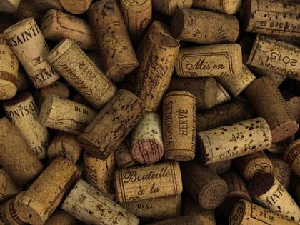 Pile of wine corks