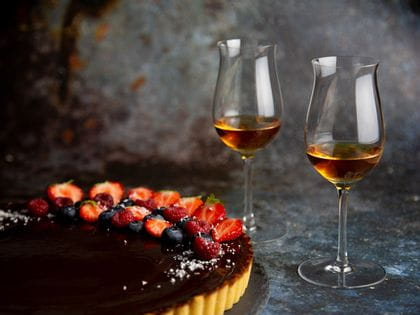 Chocolate tart with chilli and fleur de sel