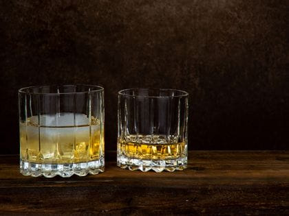 Whisky served in RIEDEL Drinks Specific Glassware Rocks and Neat glass