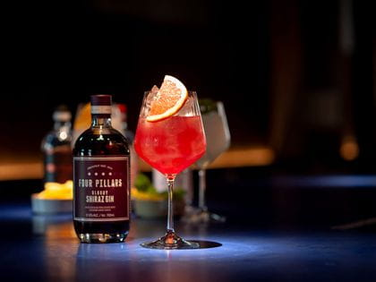 Nachtmann Gin & Tonic with Four Pillars Bloody Shiraz Gin