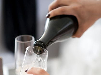 Pexels image: pouring champagne into a glass
