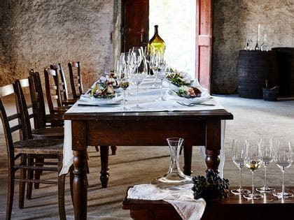 Elegant table decorated with RIEDEL Superleggero