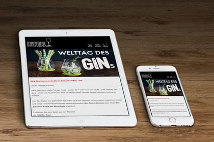 RIEDEL Newsletter available on desktop, tablet and mobile