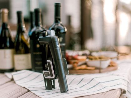 Coravin Model Two sitting on bench