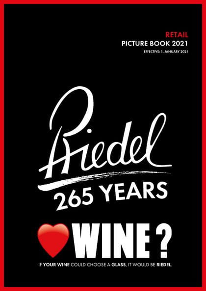 Cover of the RIEDEL catalogue retail