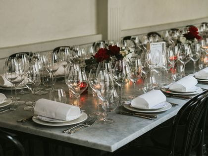 Elegant table decorated with RIEDEL Performance glasses