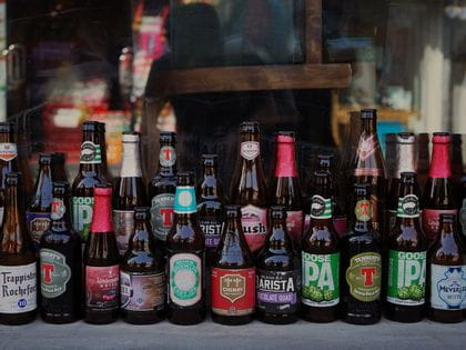 A collection of beer bottles