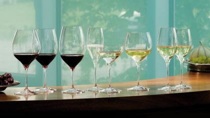 Enjoy your favorite wine out of RIEDEL Grape wine glasses.