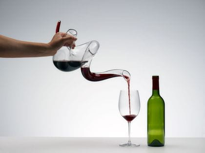 Riedel Boa Decanter decanting red wine